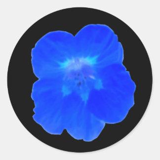 Blue Nasturtium Sticker