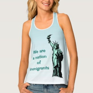 Blue Nation of Immigrants Resist Tank Top