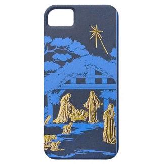 Blue nativity scene iPhone SE/5/5s case