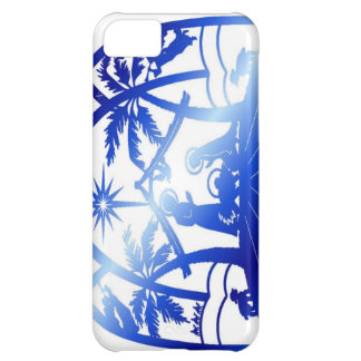 Blue nativity silhouette iPhone 5C case