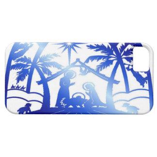 Blue nativity silhouette iPhone SE/5/5s case
