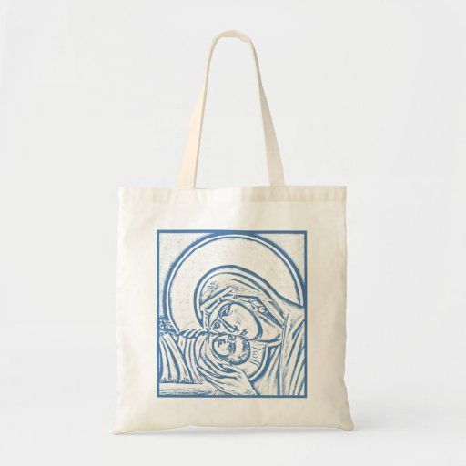 Blue Nativity Tote Canvas Bag