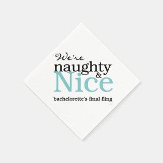 Blue Naughty & Nice Final Fling Paper Napkins