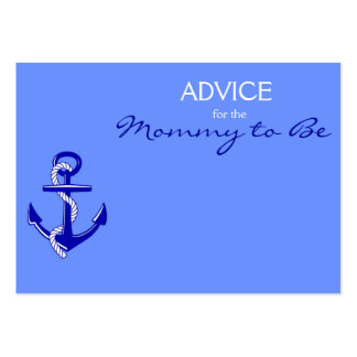 Blue Nautical Advice for the Mommy to Be Cards Large Business Cards (Pack Of 100)