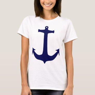 Beach Themed Blue Nautical anchor pattern T-Shirt