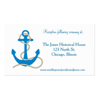 Blue Nautical Enclosure Cards Double-Sided Standard Business Cards (Pack Of 100)