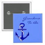Blue Nautical Grandma To Be Anchor Pin