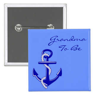 Blue Nautical Grandma To Be Anchor Pin