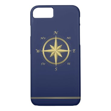 Blue Nautical iPhone 7 Cases With Compass