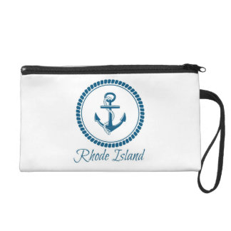 Blue Nautical Rhode Island Wristlet