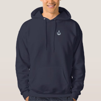 blue nautical sailor anchor hoodie