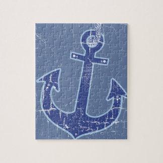 blue nautical sailor anchor jigsaw puzzle