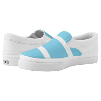Blue nautical stripe printed shoes