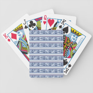 Blue Nautical Summer Bicycle Playing Cards