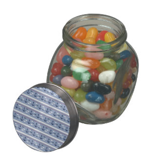 Blue Nautical Summer Jelly Belly Candy Jars