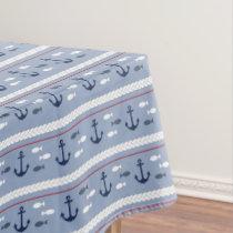 Blue Nautical Summer Tablecloth