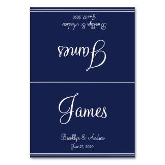 Blue Nautical Wedding Table Cards Seating Cards Table Card
