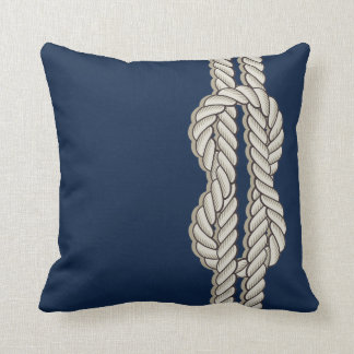 Blue Nautical with Ship's Rope Pillows