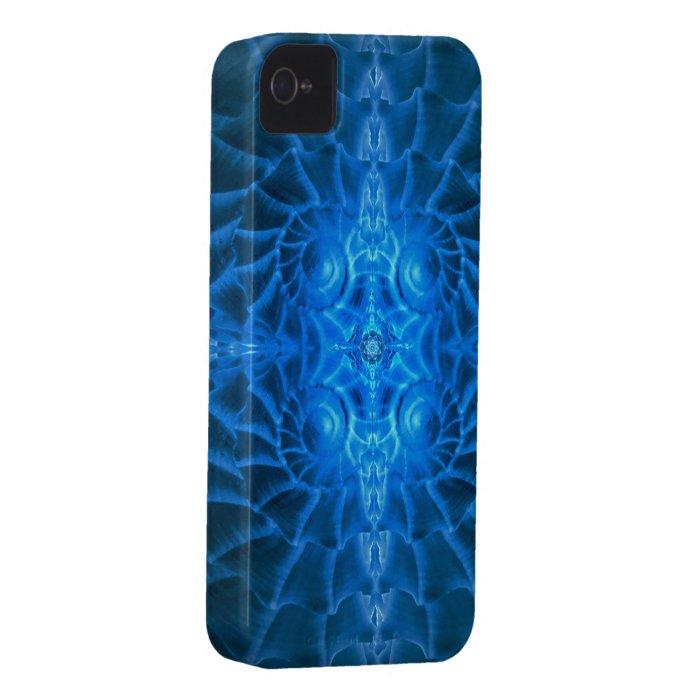 Blue Nautilus Mandala  iPhone4 Case