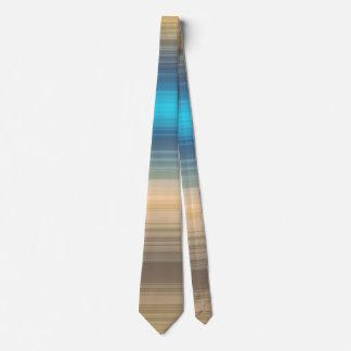 Blue, navy and brown stripe tie