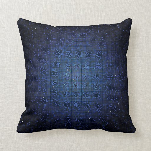 Accent Pillows For Navy Blue Couch : Blue Navy Glitter Sequin Disco Couch Throw Pillow Zazzle