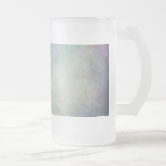 Blue Nebula Frosted Glass Beer Mug