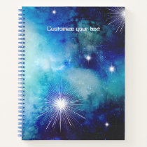 Blue Nebula Note Book Journal Sketchbook