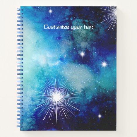 Blue Nebula Note Book Journal Sketchbook