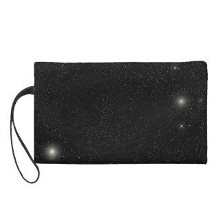 Blue Nebula /Starfield Wristlet Purse