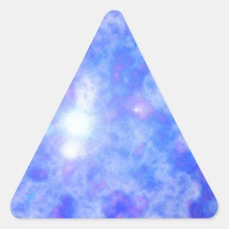 Blue Nebula Triangle Sticker