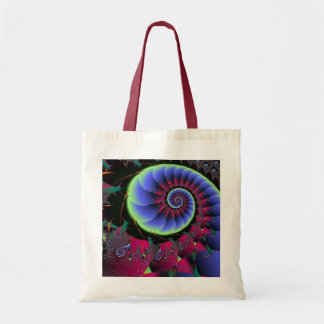 Blue Nebular and Red Vien Bag