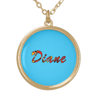 Blue necklace for Diane