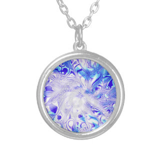 BLUE NECKLESS SILVER PLATED NECKLACE