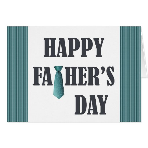 blue necktie Father's Day greetings Greeting Cards