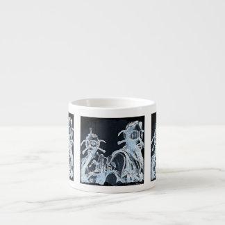Blue Negative Gas Masks Espresso Mugs