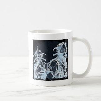 Blue Negative Image Gas Masks Coffee Mug