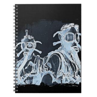 Blue Negative Image Gas Masks Notebook