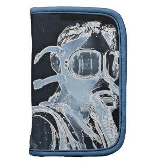 Blue Negative Image Gas Masks Organizer