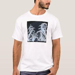 Blue Negative Image Gas Masks T-Shirt