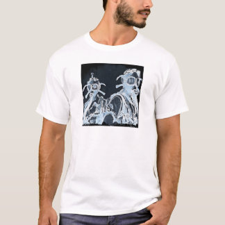 Blue Negative Image Gas Masks T-Shirt