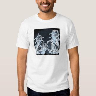 Blue Negative Image Gas Masks Tee Shirt