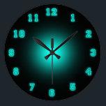 "Blue Neon 10.75&quot; Large Clock<br><div class=""desc"">Neon Wall Clock</div>"