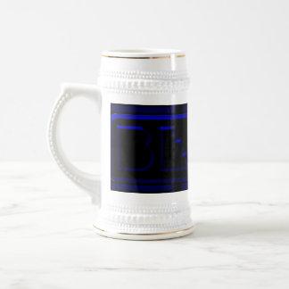 Blue Neon Black Plastic Brewing Company Beer Stein