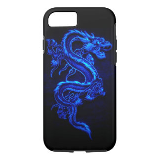 "BLUE NEON DRAGON ""DRAGA"" iPhone 7 CASE"