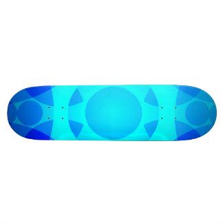 Blue Neon Floral Mandala Lights Skateboard Deck