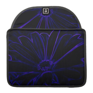 Blue Neon Flower Sleeves For MacBook Pro