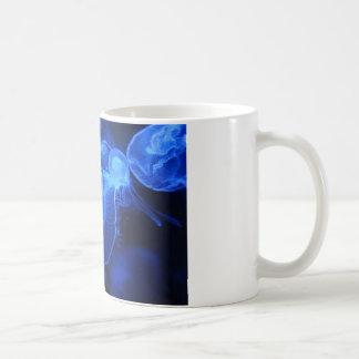 Blue Neon Jellyfish Coffee Mug