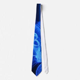 Blue Neon Jellyfish Neck Tie