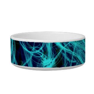 Blue Neon Lights pet bowl
