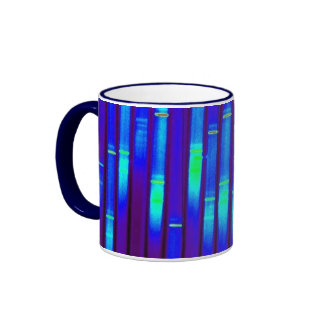 Blue Neon Ringer Mug